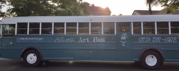 Art Bus, painting, acrylic, lessons, school